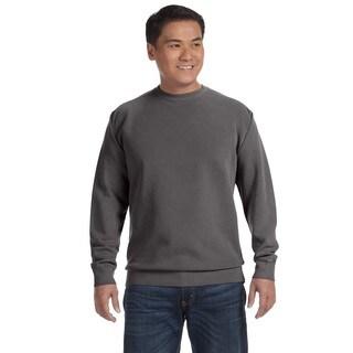 Garment-Dyed Fleece Men's Crew-Neck Pepper Sweater