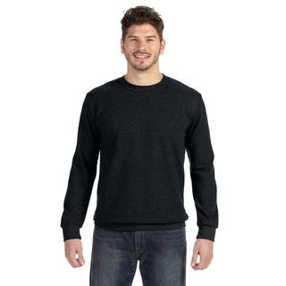 Adult Crew-Neck Men's French Terry Black Sweater|https://ak1.ostkcdn.com/images/products/12404413/P19224280.jpg?impolicy=medium