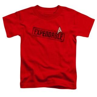 Star Trek/Expendable Short Sleeve Toddler Tee in Red