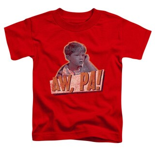 Andy Griffith/Aw Pa Short Sleeve Toddler Tee in Red