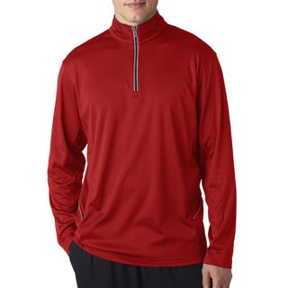 Cool and Dry Sport Quarter Zip Men's Pullover Red Sweater()