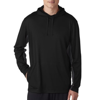Cool and Dry Sport Hooded Men's Pullover Black/Charcoal Sweater (XL)