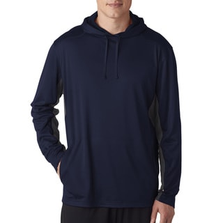 Cool and Dry Sport Hooded Men's Pullover Navy/Charcoal Sweater