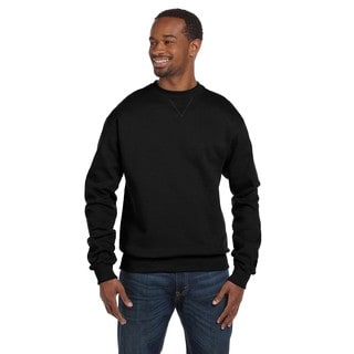 Men's V-stitch Crew-Neck Black Sweater