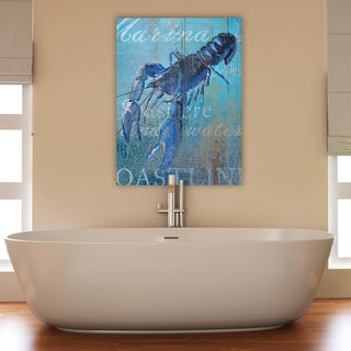 Portfolio Canvas Decor Ali Zoe Lobster and Sea Crop Stretched and Wrapped Canvas Print Wall Art