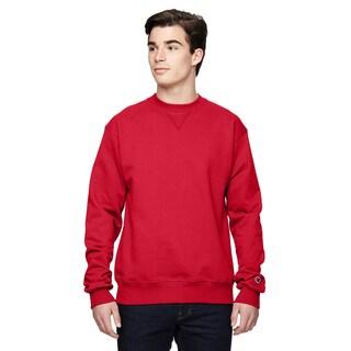 Men's Crew-Neck Sport Red Sweater