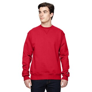 Men's Crew-Neck Sport Red Sweater