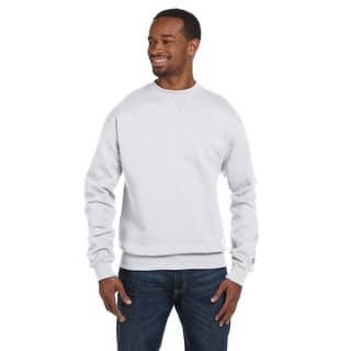 Men's Crew-Neck White Heather Sweater