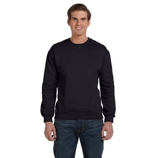Crew-Neck Men's Fleece Black Sweater