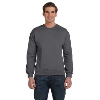 Crew-Neck Men's Fleece Charcoal Sweater