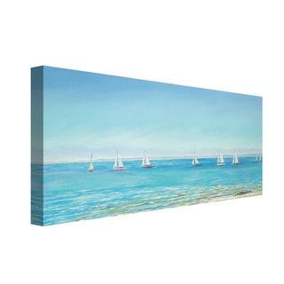 Portfolio Canvas Decor Sandra Francis Mermaid Yacht Sailing Stretched and Wrapped Canvas Print Wall Art