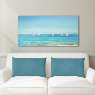 Portfolio Canvas Decor Sandra Francis Mermaid Yacht Sailing Stretched and Wrapped Canvas Print Wall Art