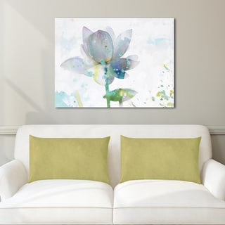 Portfolio Canvas Decor Leila Lotus Horizontal Stretched and Wrapped Canvas Print Wall Decor