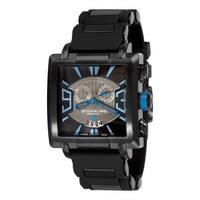 Stuhrling Orignal Men's Swiss Quartz Il Capo Chronograph Black Rubber Strap Watch