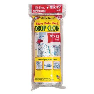 Warps JCS-912 9' X 12' Plastic Jiffy Cover Drop Cloth