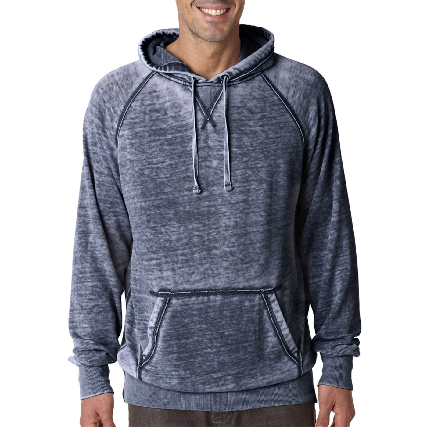 Superdry Mens Hoodie XXL 2XL Pullover Sweater Blue Boutique