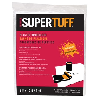 Tufpro 03503 9' X 12' 4MM SuperTuff Plastic Drop Cloth