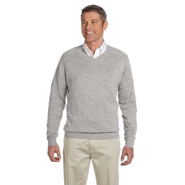 V-Neck Mens Grey Heather Sweater