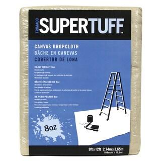 Trimaco 58901 9' X 12' 8Oz SuperTuff Heavyweight Canvas Drop Cloth