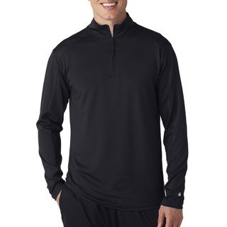 Zip Lightweight Men's Pullover Jacket Black Sweater