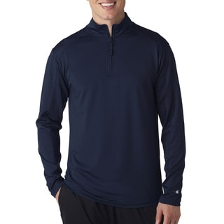 Zip Lightweight Men's Pullover Jacket Navy Sweater