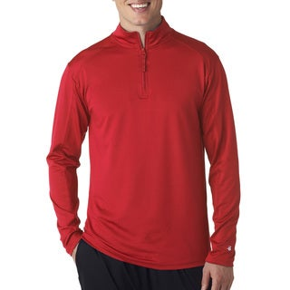 Zip Lightweight Men's Pullover Jacket Red Sweater