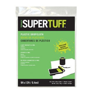 Trimaco 03103 9' X 12' .4MM SuperTuff Plastic Drop Cloth