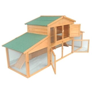 Link to Pawhut 91-inch Wooden Rabbit Hutch/Chicken Coop with Large Outdoor Run Similar Items in Chicken Coops & Pens