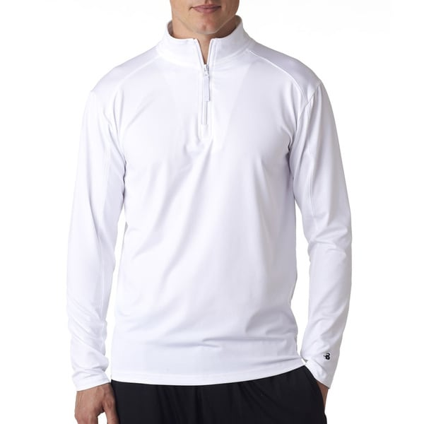Zip Lightweight Men's Pullover Jacket White Sweater - Free ...