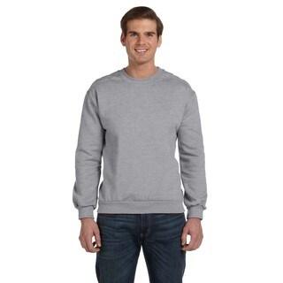 Crew-Neck Men's Fleece Heather Grey Sweater