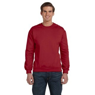Crew-Neck Men's Fleece Independence Red Sweater