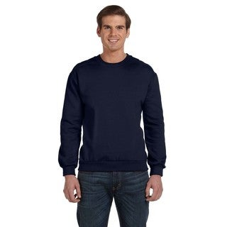 Crew-Neck Men's Fleece Navy Sweater