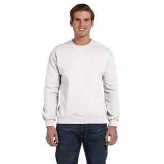 Crew-Neck Men's Fleece White Sweater