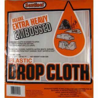 Gam DE91200 9' X 12' Sentinel Deluxe Heavy Duty Embossed Drop Cloth