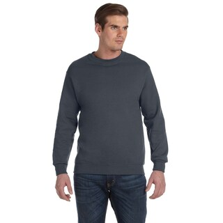 50/50 Fleece Men's Crew-Neck Charcoal Sweater (4 options available)