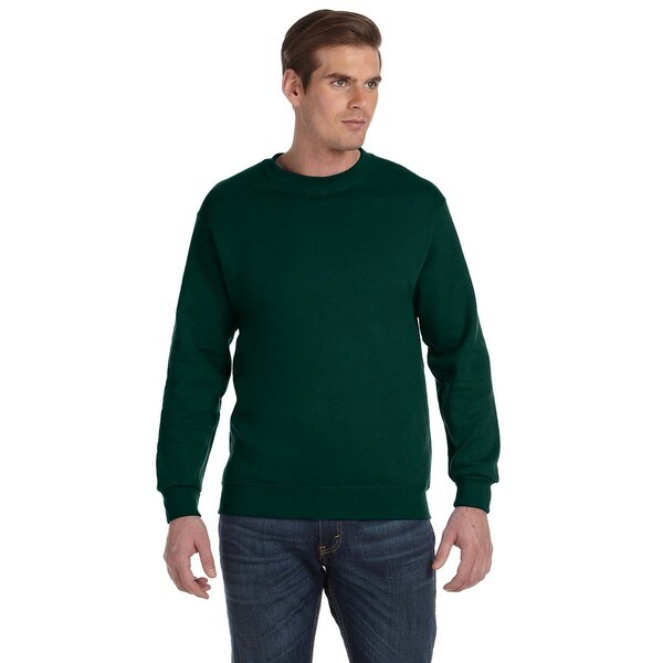 50/50 Fleece Mens Crew-Neck Green Sweater