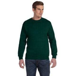 50/50 Fleece Men's Crew-Neck Green Sweater