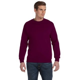 50/50 DryBlend Fleece Men's Crew-Neck Maroon Sweater
