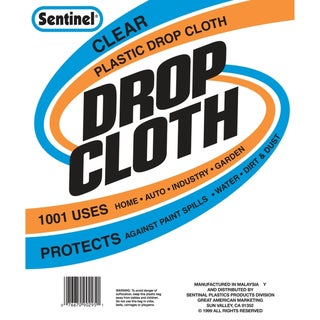 Gam DC90121 10' x 20' Sentinel Clear Plastic Drop Cloths