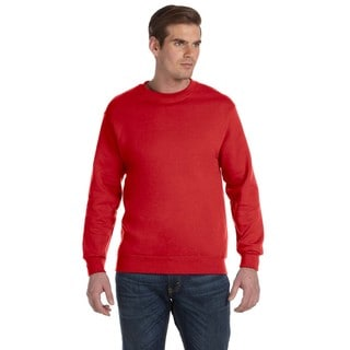 50/50 DryBlend Fleece Men's Crew-Neck Red Sweater