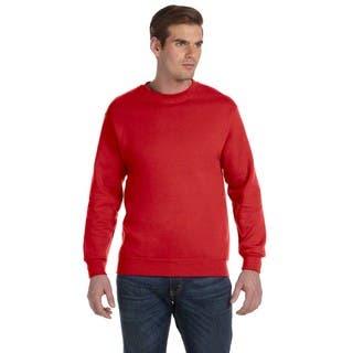 50/50 DryBlend Fleece Men's Crew-Neck Red Sweater