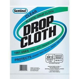 Gam DC90101 9' x 12' Sentinel Clear Plastic Drop Cloths