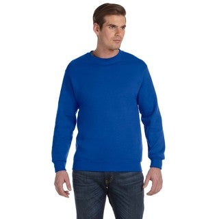 50/50 DryBlend Fleece Men's Crew-Neck Royal Sweater