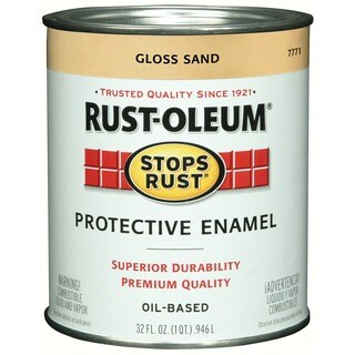 Rustoleum Stops Rust 7771-502 1 Quart Sand Gloss Stops Rust Protective Enamel