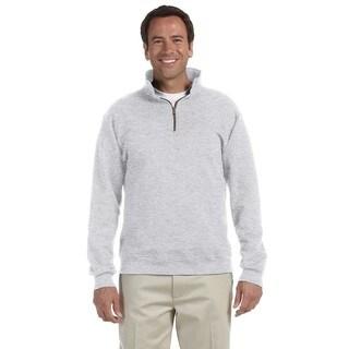 50/50 Super Sweats Nublend Fleece Quarter-Zip Men's Pullover Ash Sweater