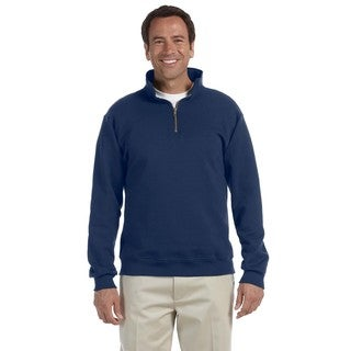 50/50 Super Sweats Nublend Fleece Quarter-Zip Men's Pullover J Navy Sweater