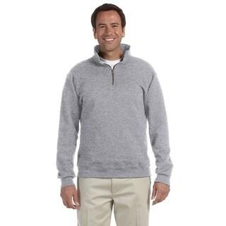 50/50 Super Sweats Nublend Fleece Quarter-Zip Men's Pullover Oxford Sweater