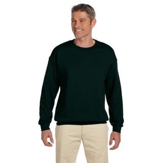 50/50 Fleece Men's Crew-Neck Forest Green Sweater (4 options available)