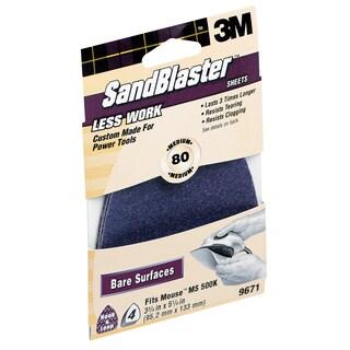 3M 9671SB-ES 80 Grit SandBlaster Sandpaper For Mouse Sander