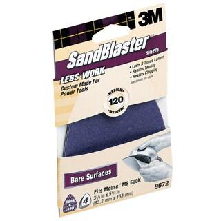 3M 9672SB-ES 120 Grit SandBlaster Sandpaper For Mouse Sander